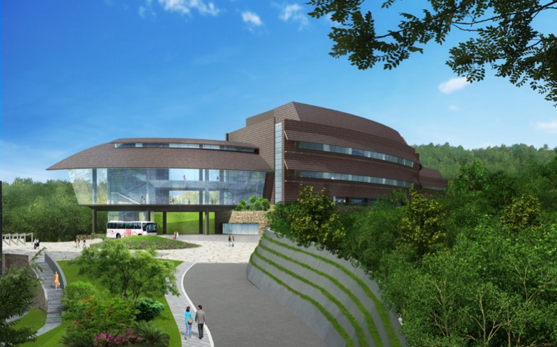 Artist rendering of the main entrance of Lab 4.