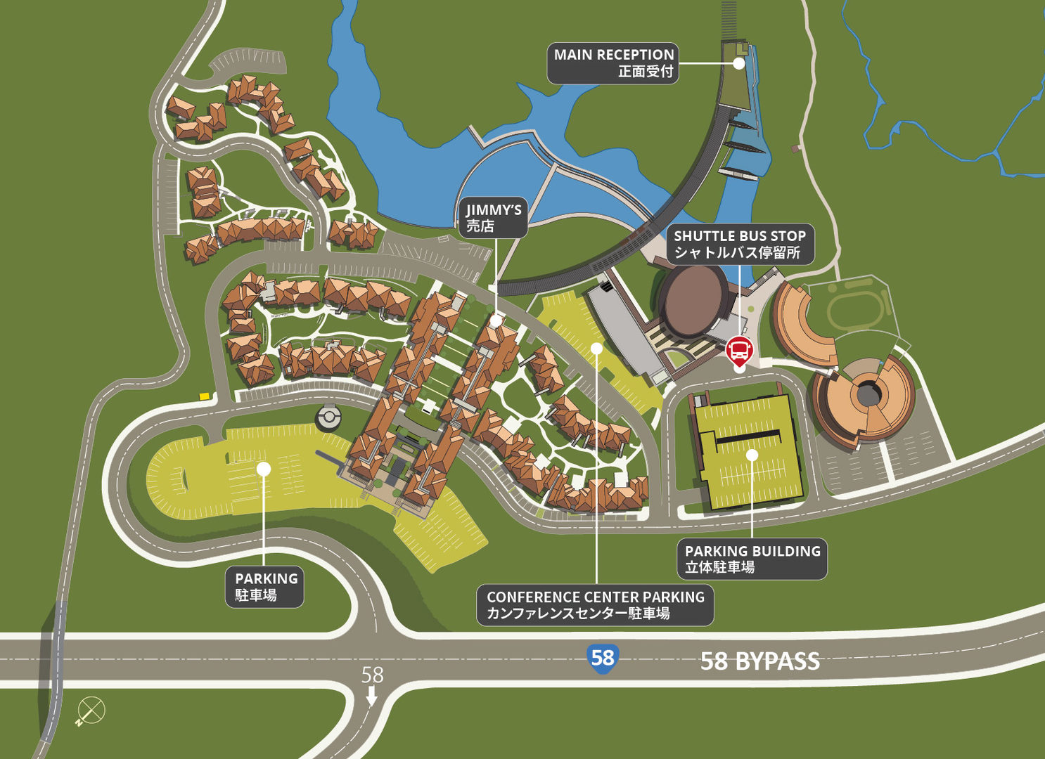 Map of OIST parking.