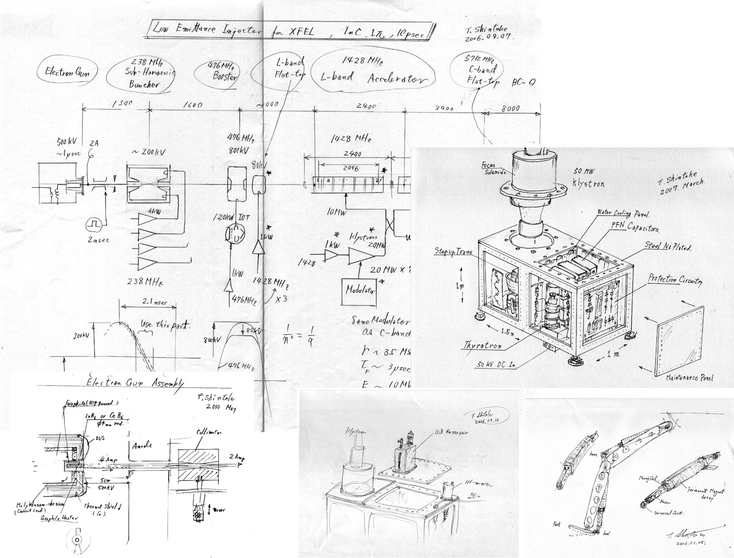 A design sketch of the C-Band linac by Prof. Shintake