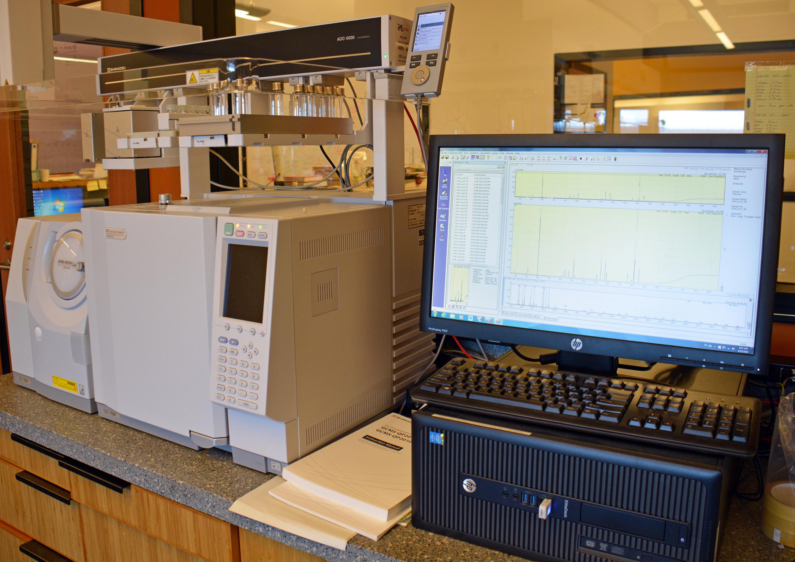 ガスクロマトグラフィー質量分析装置