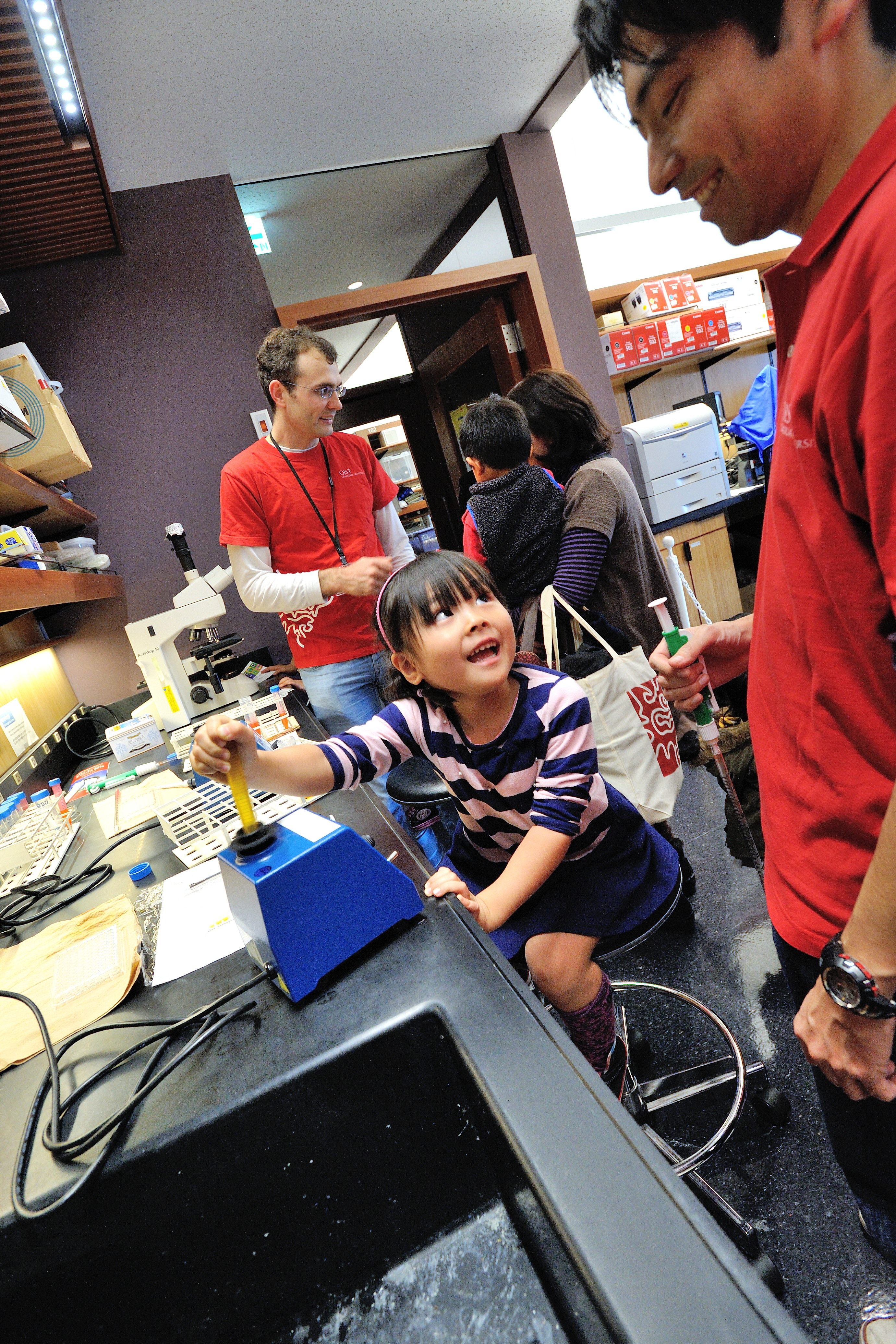 Future bench scientist at Open Campus