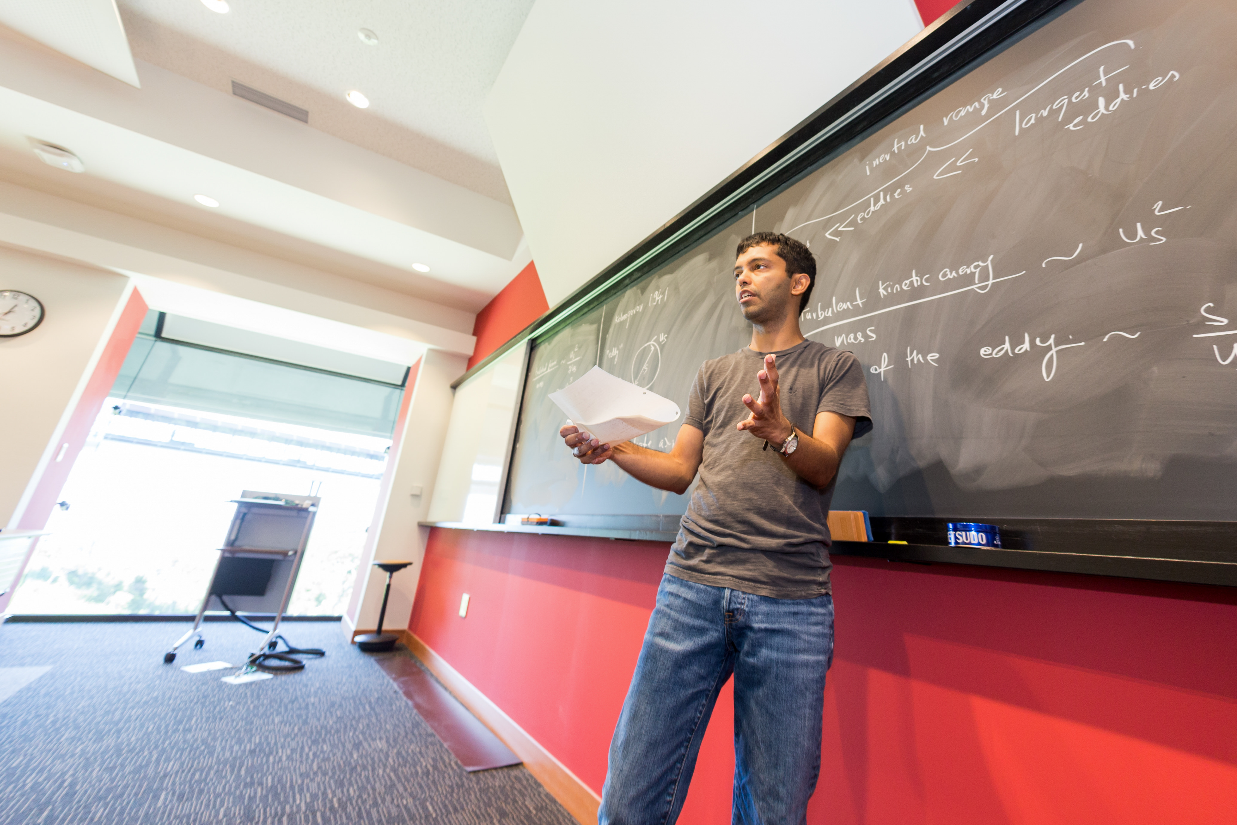Professor Chakraborty teaches a class for graduate students
