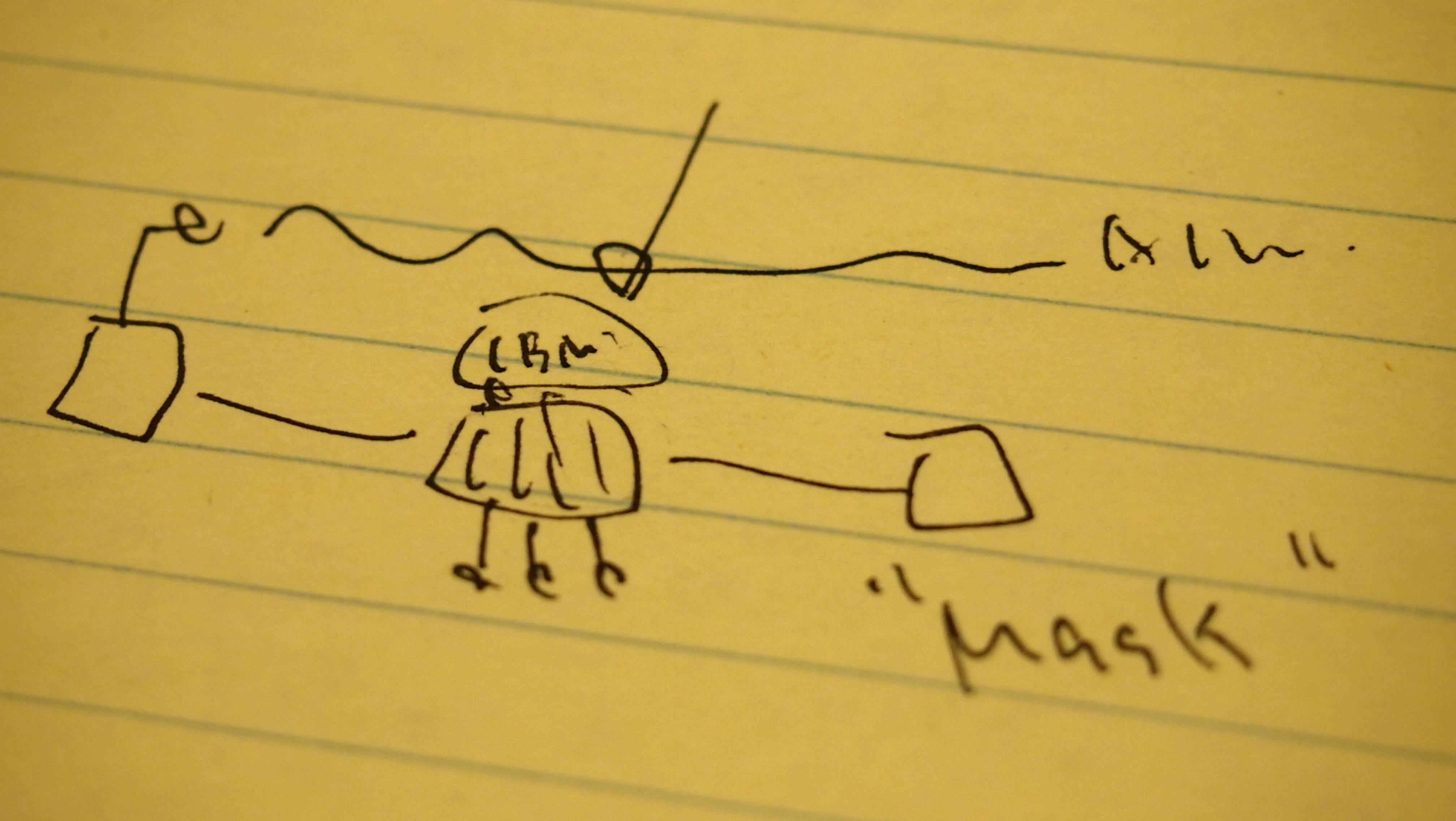 佐瀬准教授の手描き図