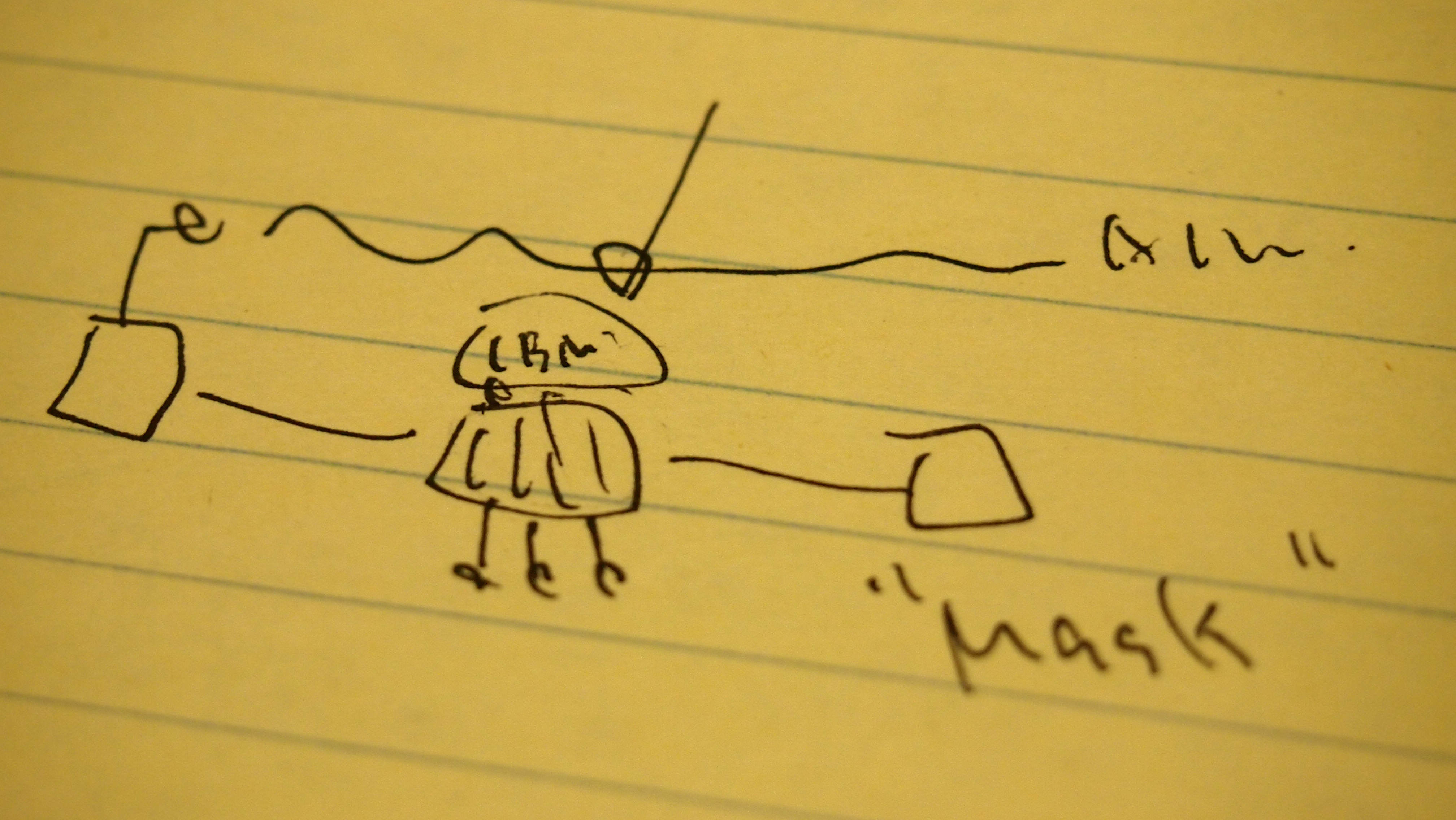 Prof. Saze's Hand-Drawn Diagram