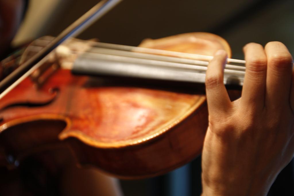 OISTウィンターコンサートのヴィオラ奏者、新垣伊津子さん