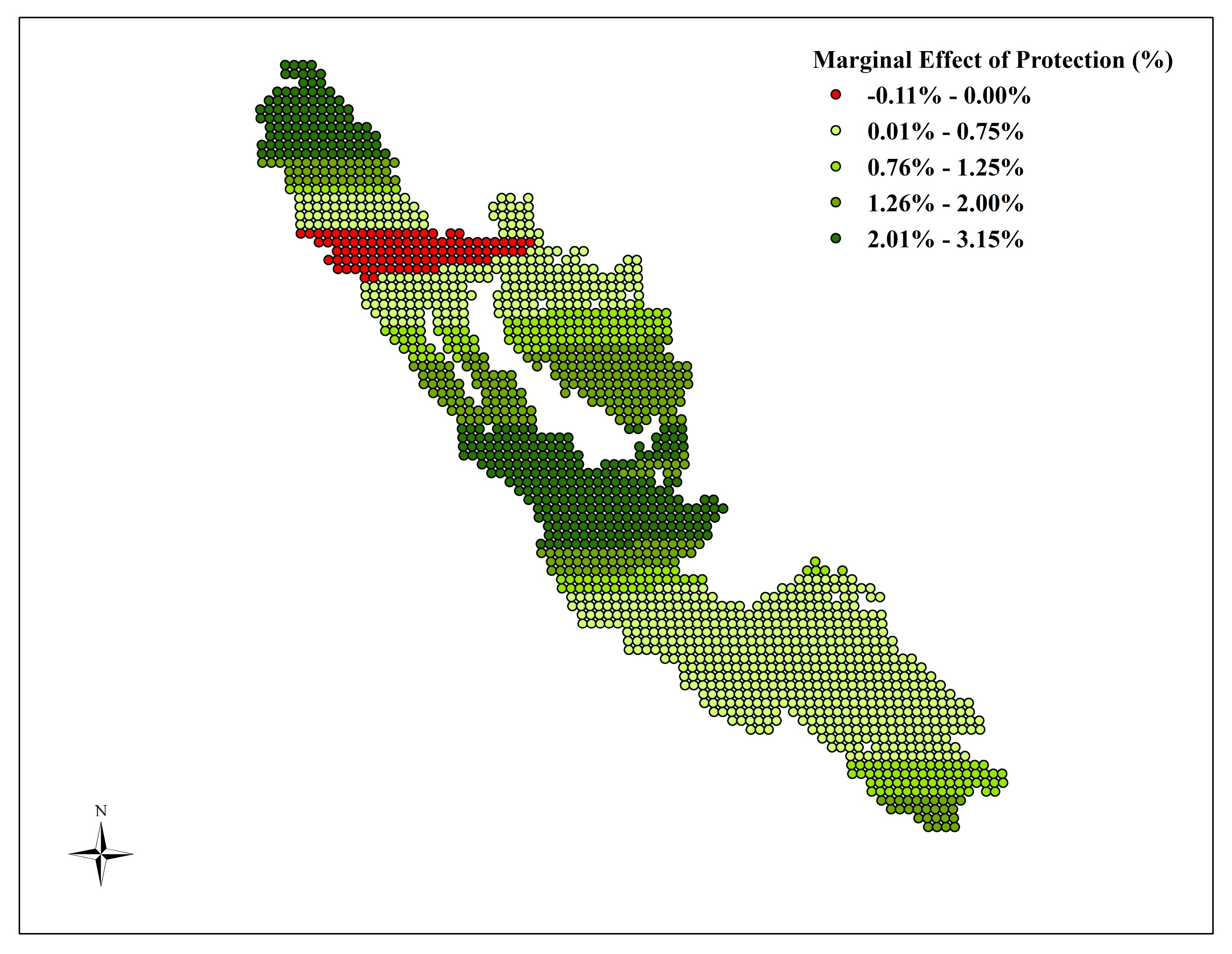 Variation in effect of protection within Kerinci Seblat National Park