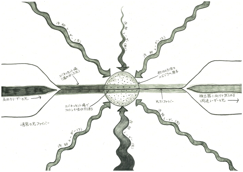 ルビジウム原子を冷却させて調べる (画:バネッサ・シパーニ)