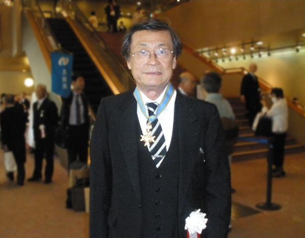 Distinguished Professor Hirotaka Sugawara with Order of the Sacred Treasure