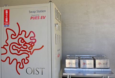 The Swap Station: an exchangeable battery system for electric cars