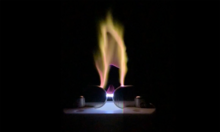 A corona discharge plasma that looks like a flame.