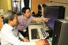 Professor Tadashi Yamamoto and Naosuke Hoshina
