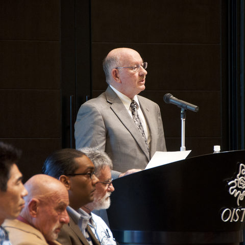 OIST President Jonathan Dorfan at the OIST Graduate School Opening Ceremony, 6 S