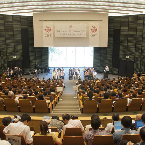 The OIST Graduate School Opening Ceremony, 6 September 2012