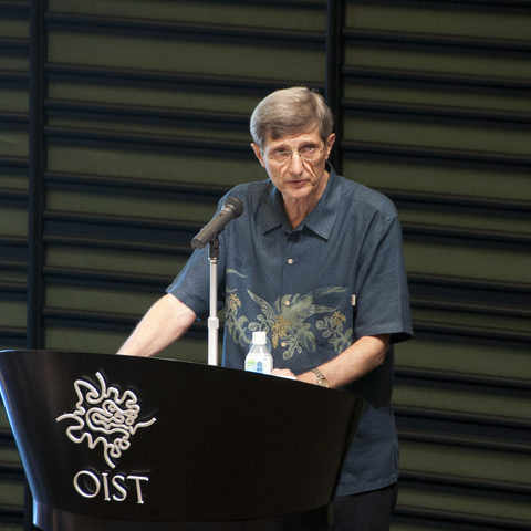 OIST Graduate University Provost Dr. Robert Baughman at the OIST Graduate School