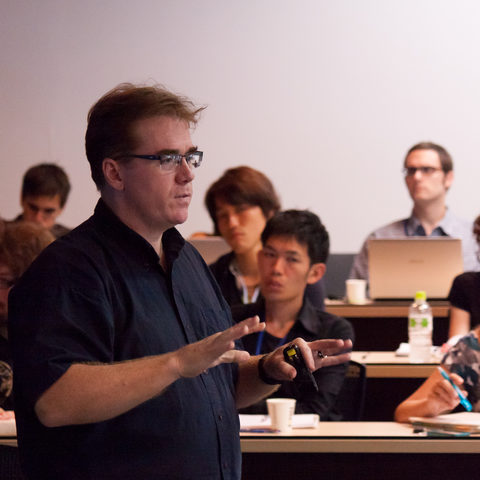 DNC2012 co-organizer Prof. David Van Vactor gives a lecture on Neuronal Cell Bio