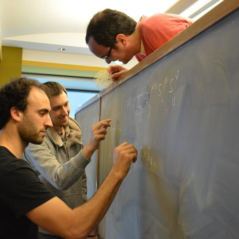 OIST post-doctoral researchers (from left to right): Karim Essafi, Owen Benton, and Ludo Jaubert