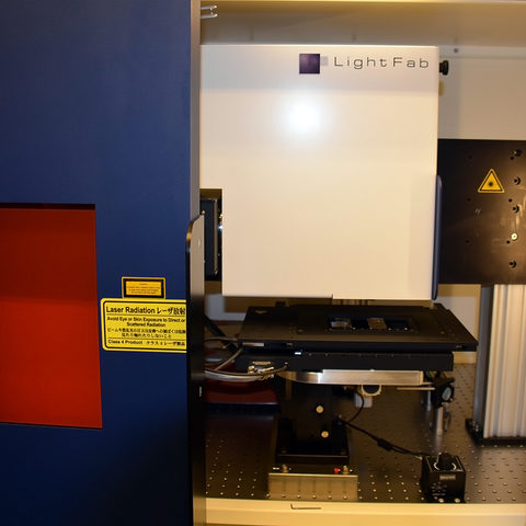 The newly installed 3D printer at OIST