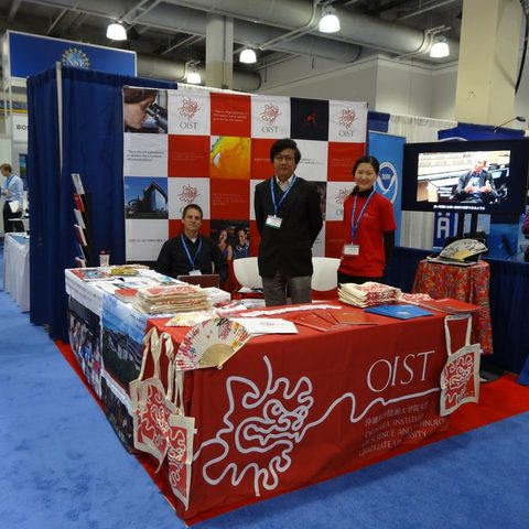 The OIST booth at the 2013 AAAS