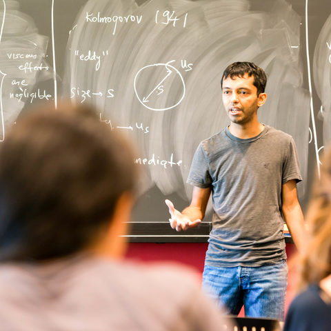 Physics Class in Graduate School. Professor Chakraborty