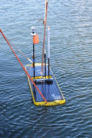 The Wave Glider Floats on the Ocean Surface