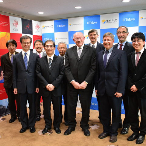OIST Executives and their counterparts at the University of Tokyo 28 Jan 2014