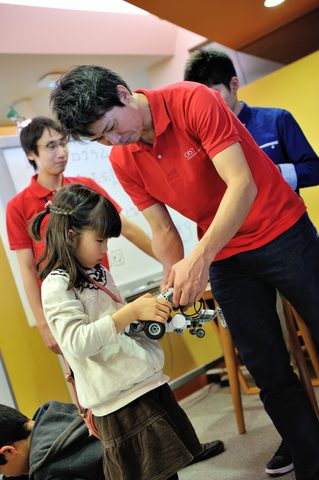 Girl with Robot at Open Campus