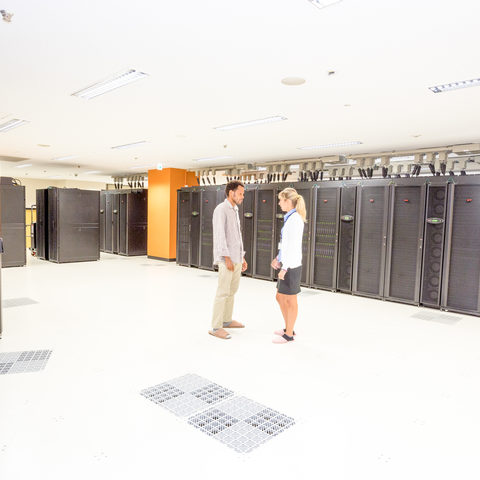 Inside SANGO, OIST Super Computer Center
