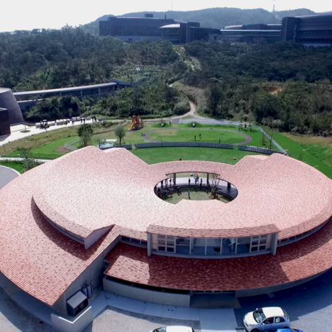 Aerial View of Child Development Center with Lab Area in Background