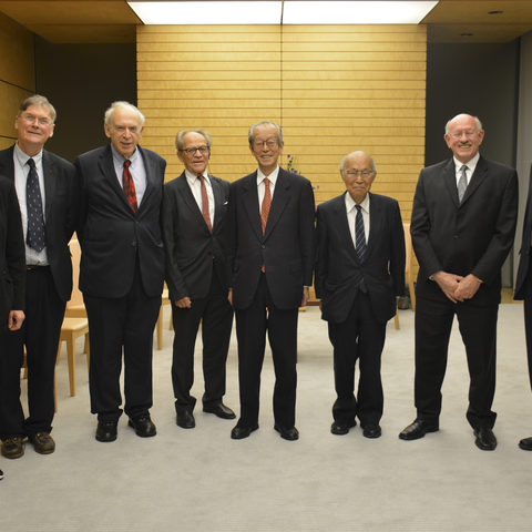 OIST BOG Members After Meeting Prime Minister Abe, 4 October 2013
