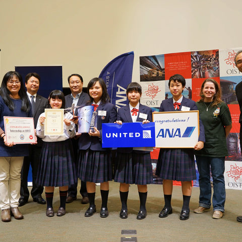 The winning team from Kyuyo High School