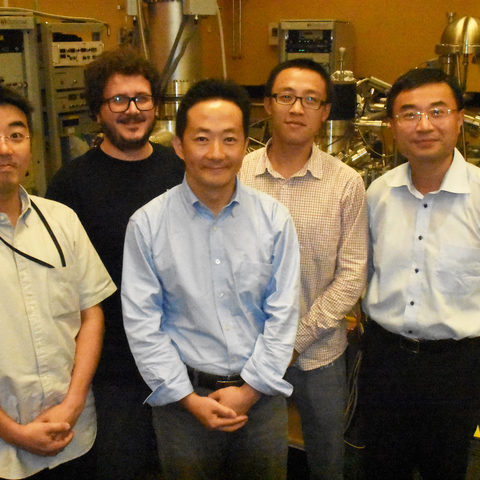 Scientists from the Energy Materials and Surface Sciences Unit who contributed to this research. From the left: Dr. Luis K. Ono, Dr. Emilio J. Juarez-Perez, Dr. Shenghao Wang, Dr. Yan Jiang, and Prof. Yabing Qi