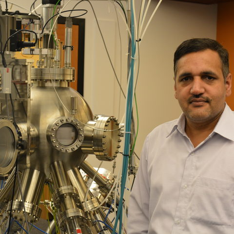Vidyadhar Singh, post-doc in the Nanoparticles by Design Unit at OIST and the paper's first author