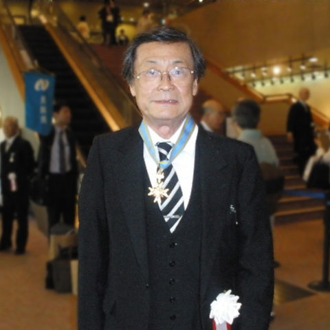 Distinguished Professor Hirotaka Sugawara with Order of the Sacred Treasure