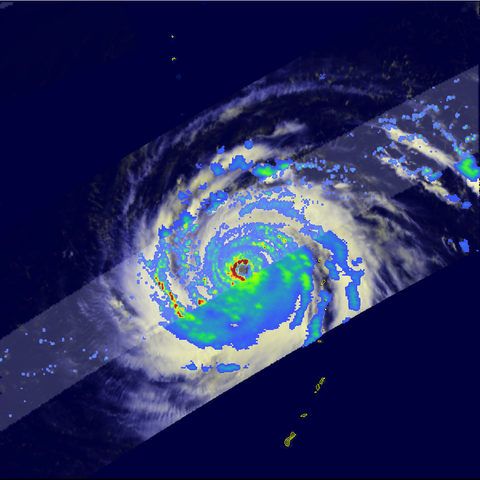 Typhoon Choi Wan captured by satellite as it passed through the Eastern Philippine Sea in September 2009.