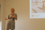 Valerie Jamieson, Editorial Content Director of New Scientist Magazine, talking at the ISCW Summer School 2015